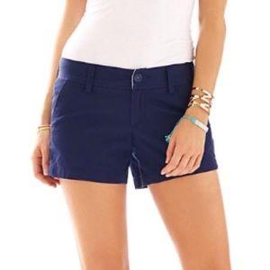 Lilly Pulitzer Navy Callahan Shorts sz 0
